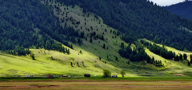 Wyoming - Jackson - farming at the foothills of a giant