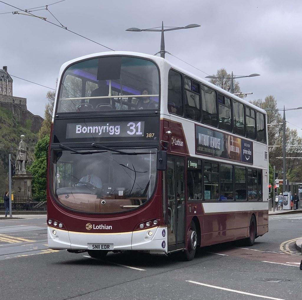 Lothian Buses 387 SN11 EDR (27-05-2021)