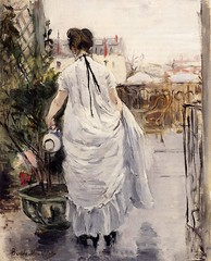 Young Woman Watering a Shrub - 1876 - PC