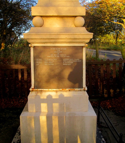 Lassodie War Memorial, World War 2 Dedication