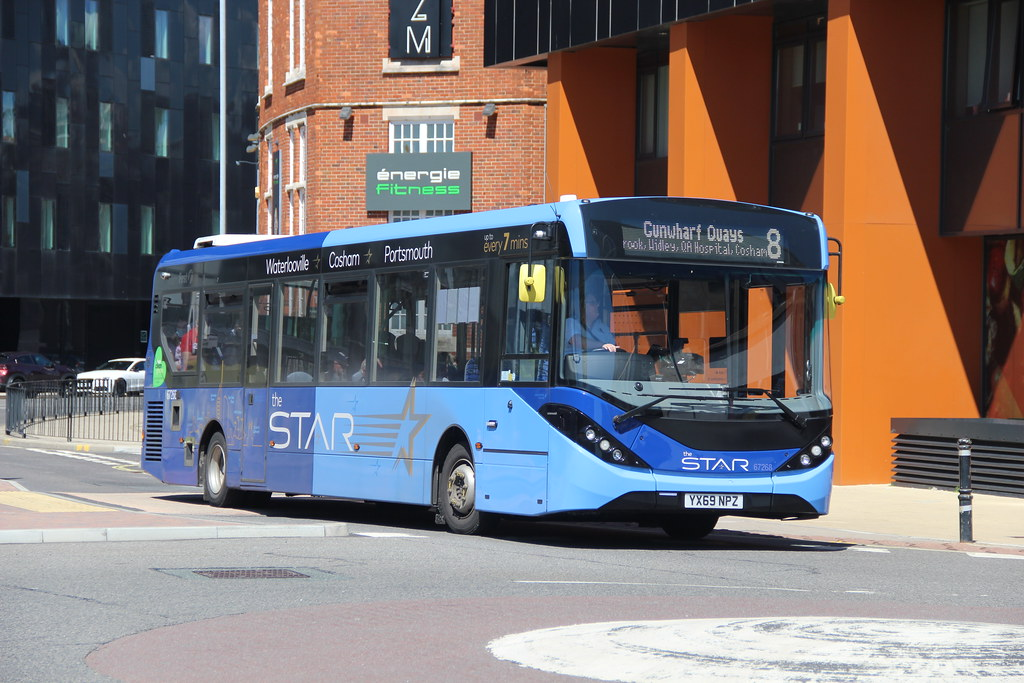 67268 YX69NPZ FIRST BUS THE STAR