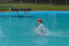 Ziggy splashing