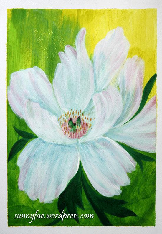 acrylic brush flower