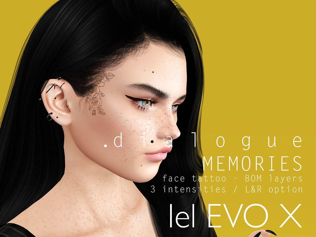 Dialogue MEMORIES face tattoo x UNIK event