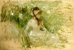 Young Woman Sitting on the Grass - 1884 - PC
