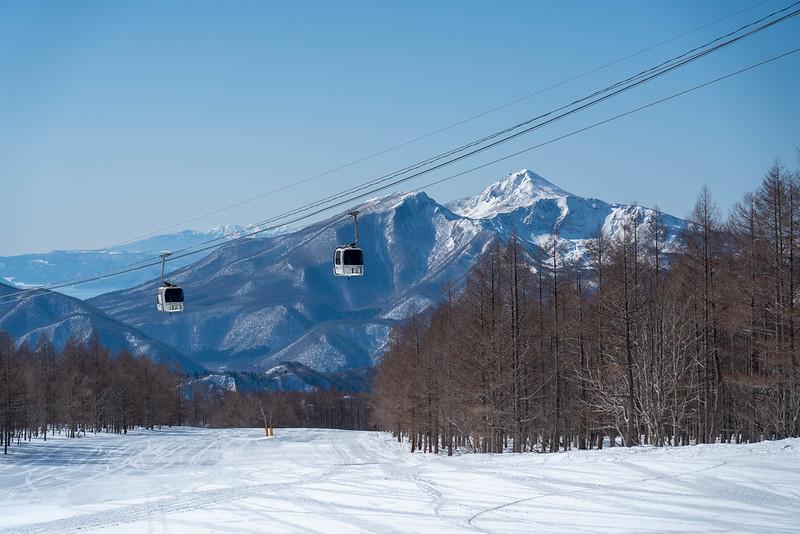 グランデコスキー場から見える磐梯山