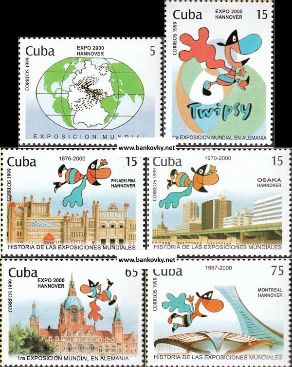 Známky Kuba 1999 EXPO Hannover 2000 MNH
