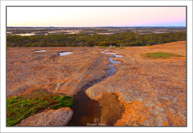 Water on The Rock, Wave Rock, Hyden, Western Australia