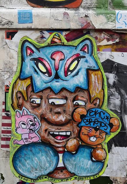 Neon Savage, City Kitty, Sketch Rat, Mowcka June 2020
