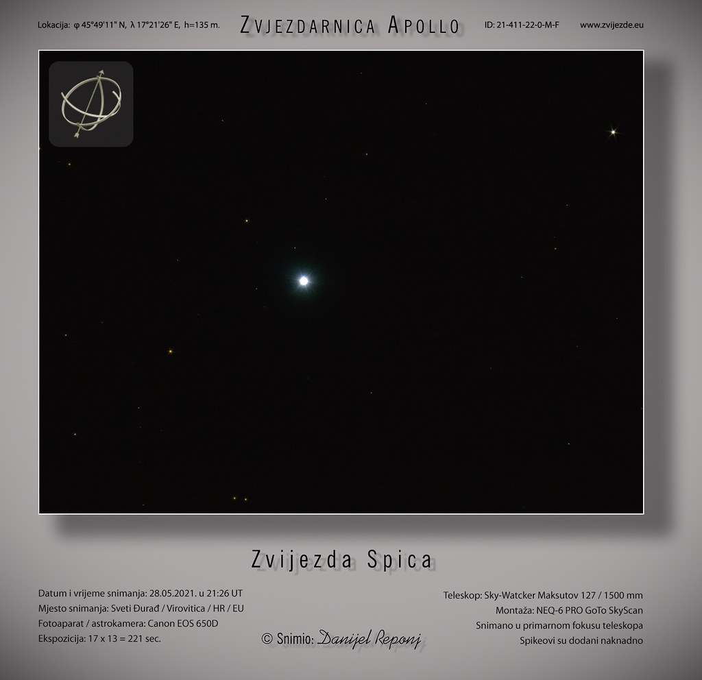 Zvijezda Spica, 28.5.2021.