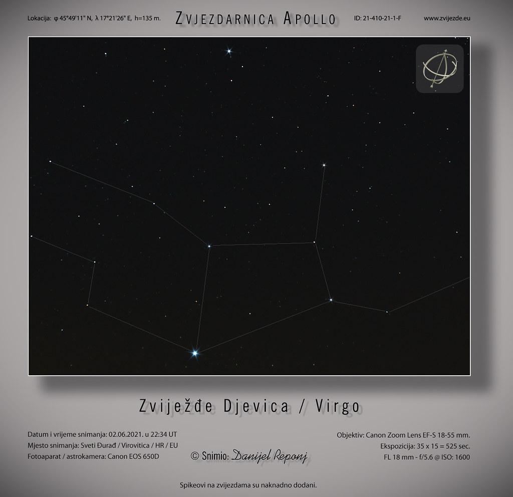 Zviježđe Djevica / Virgo, 2.6.2021.