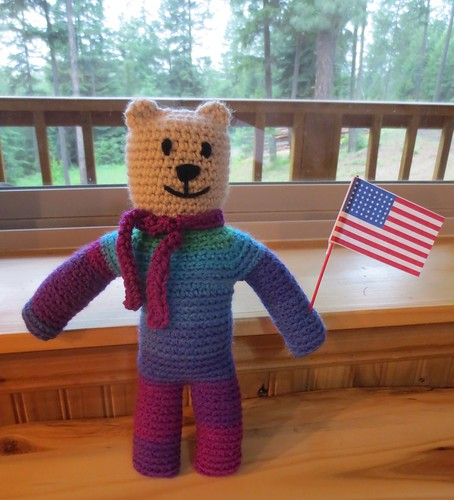 Mother Bear Flag Waving