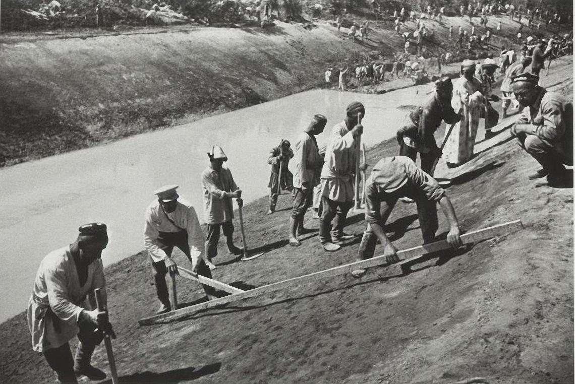 1939. Большой Ферганский канал им. Сталина. Строительные работы