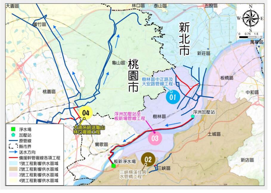 林口地區四條備援管線工程
