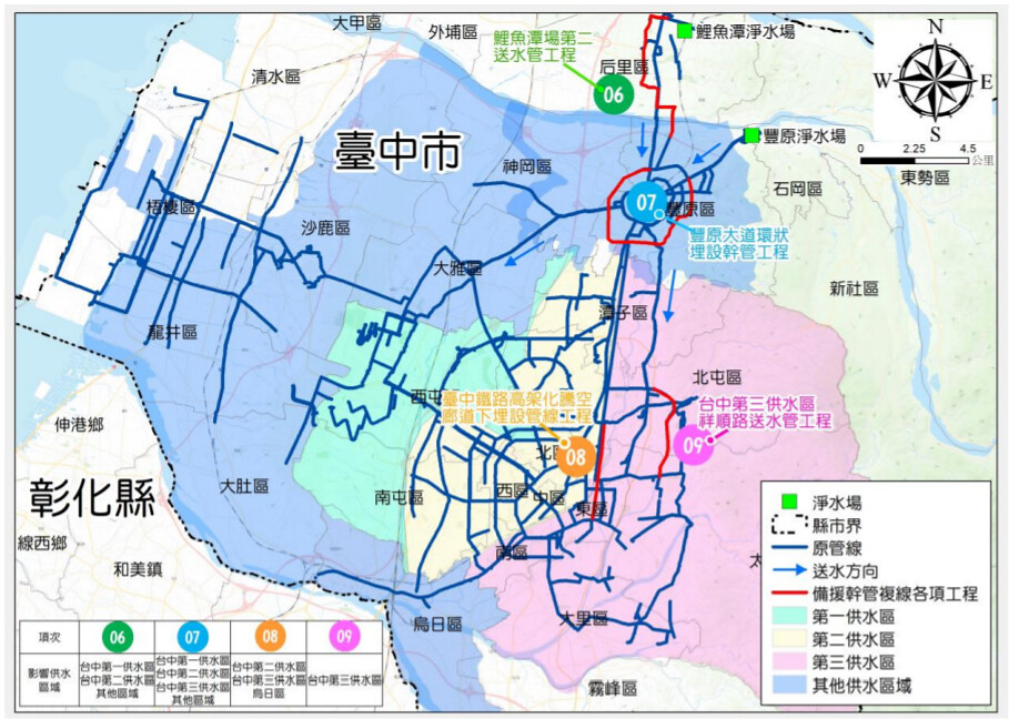 台中地區四條備援管線工程