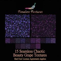 TT 15 Seamless Chaotic Beauty Grape Timeless Textures