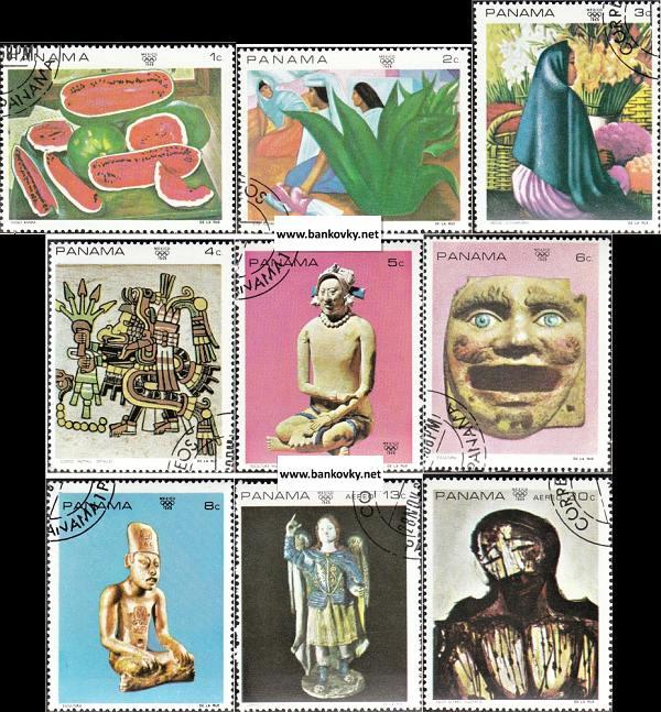 Známky Panama 1968 Mexické umenie razítk. séria