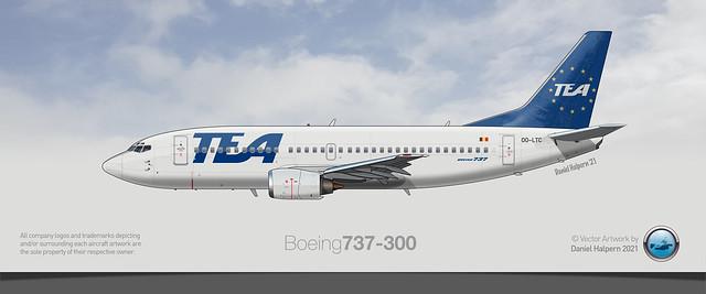 TRANS EUROPEAN AIRWAYS Boeing 737-300