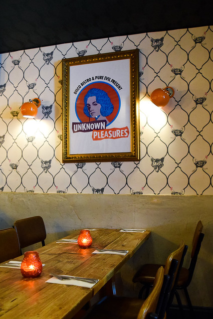 Tables at Chick 'N' Sours, Haggerston