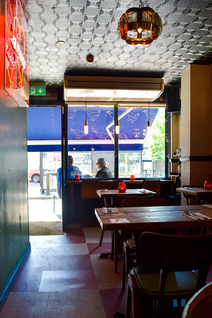 Inside Chick 'N' Sours, Haggerston