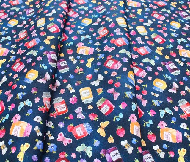 Michael Miller Fabrics In The Garden DCX9487-NAVY Jam Pots Navy