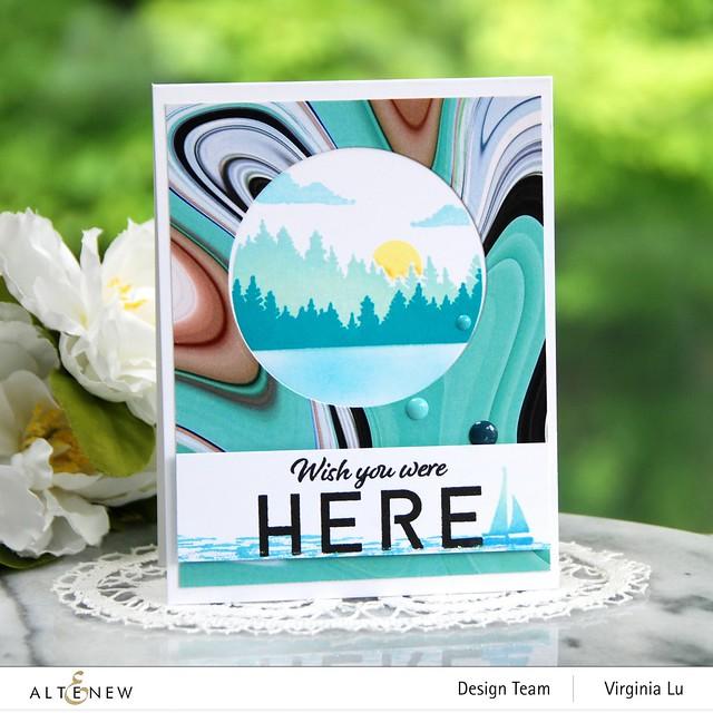 06132021-Let's Go Stamp & Die & Coloring Stencil Bundle-Poured Acrylic Paper Pad