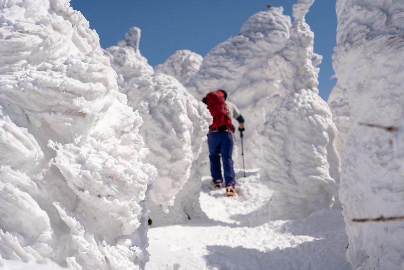 西吾妻山の樹氷を歩く