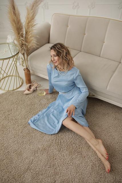 Light blue dress 9