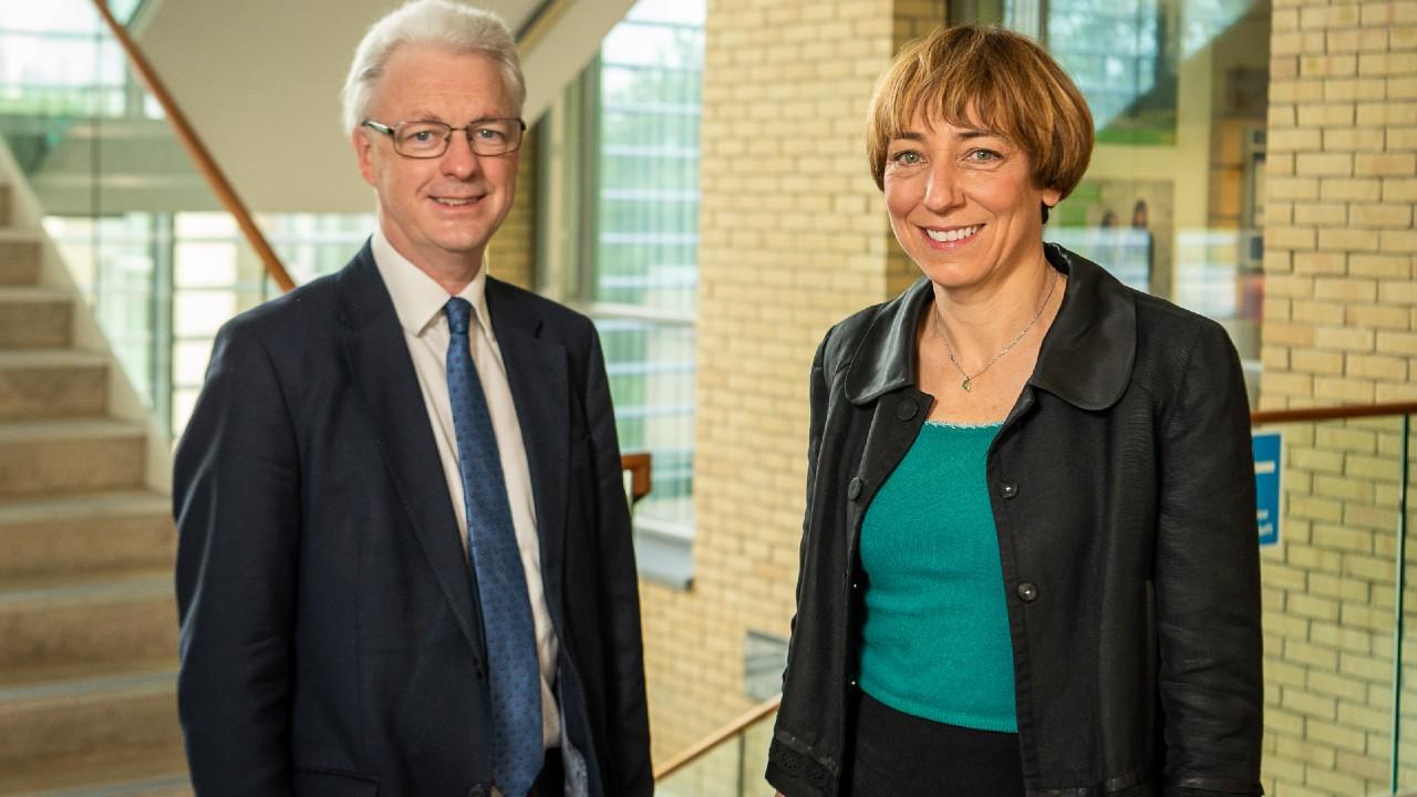 University of Bath Vice-Chancellor Professor Ian White and Professor Anna Gilmore