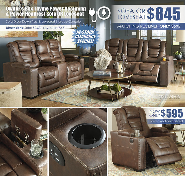 Owners Box Thyme Power Reclining Sofa OR Loveseat_24505_Update