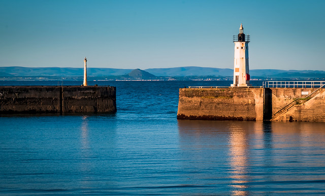 View across the Firth of Forth,Anstruther Harbour, Anstruther, Fife, Scotland, UK