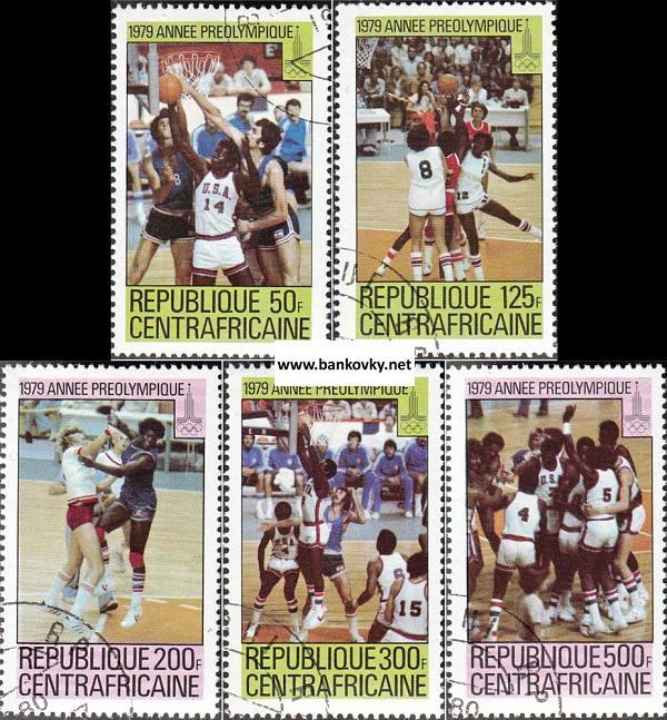 Známky Stredoafrická republika 1979 LOH Moskva MNH