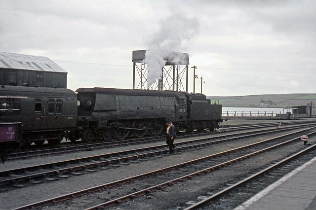 34033 'Chard' at Padstow in August 1963