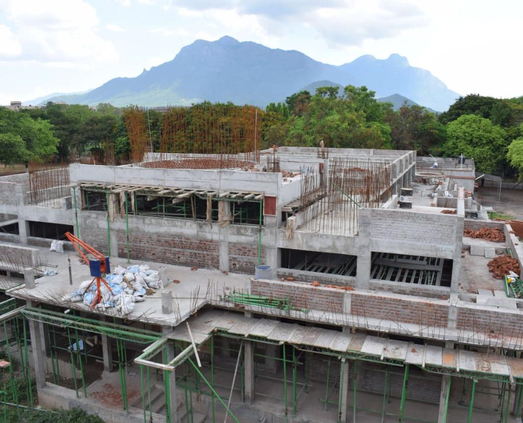 Temple Construction work is in progress, : Photos of June 2021