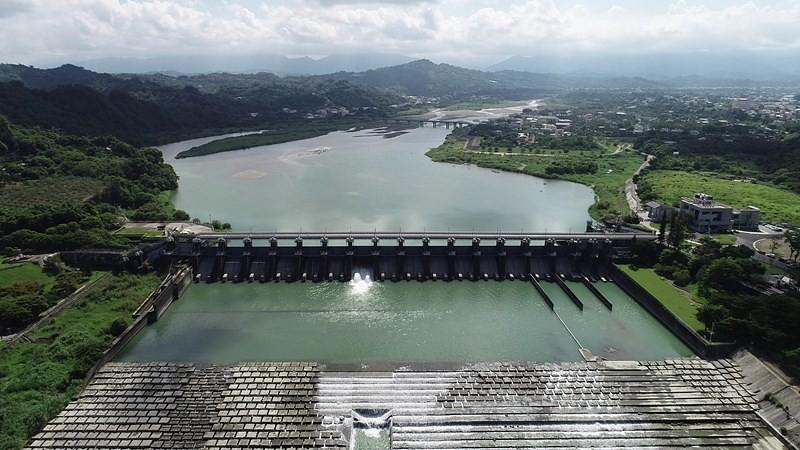 石岡壩航照圖。圖片來源:中水局