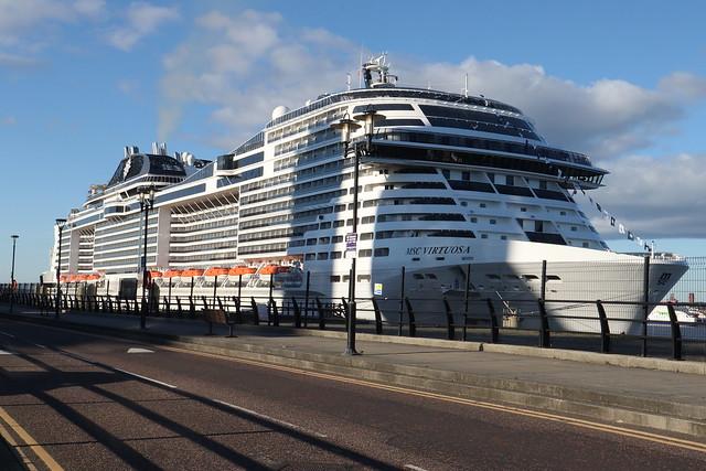 MSC Virtuosa extra night stay as Scotland refuses Docking Liverpool UK