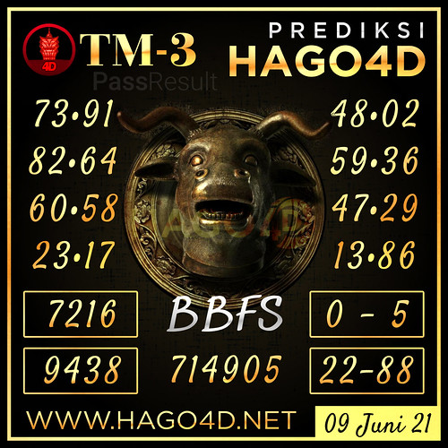 7. Prediksi Hago4D.com - Toto Macau P-3
