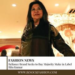 Reliance Brand Seeks To Buy Majority Stake In Label Ritu Kumar