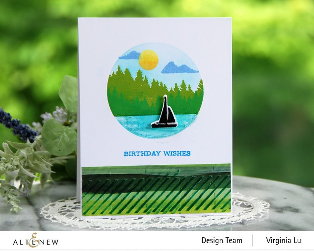 06132021-Let's Go Stamp & Die & Coloring Stencil Bundle-Buffalo Plaid 3D Embossing Folder-Enjoy The Ride Paper Pad-001