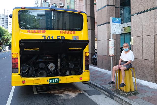 Broken-down bus