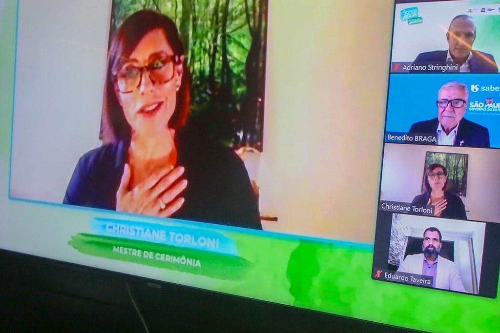 Abertura do evento de anúncio de parceria entre a Sabesp e a Fundação Amazônia Sustentável