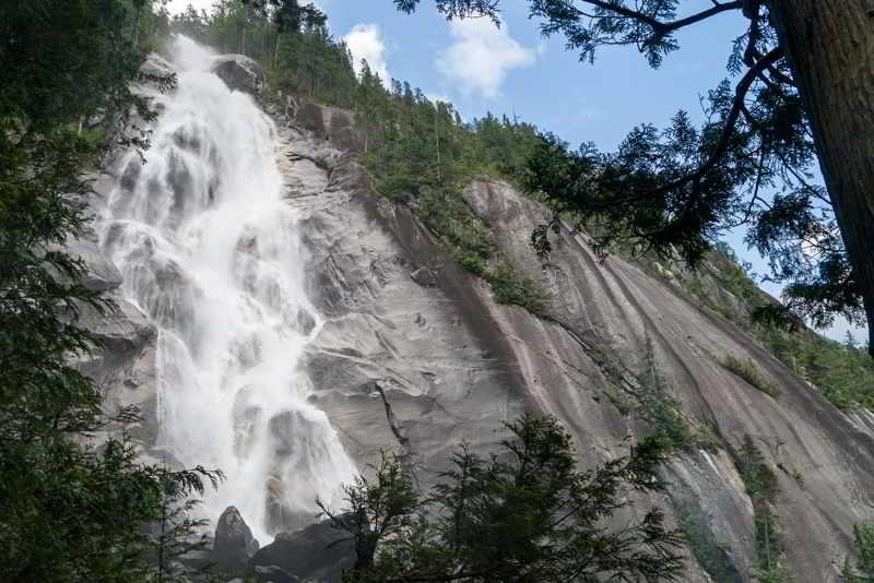 Espectacular cascada Squamish