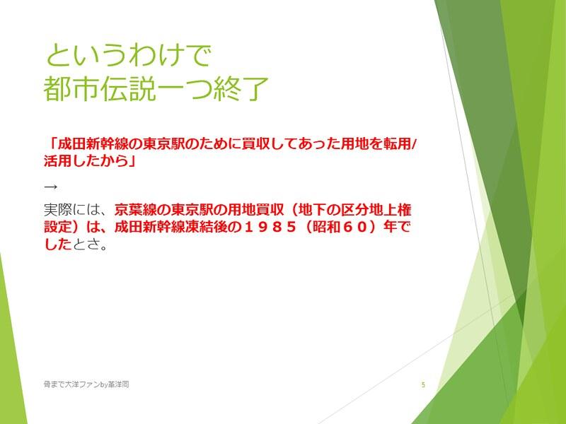 京葉線東京駅の登記と成田新幹線東京駅 (5)