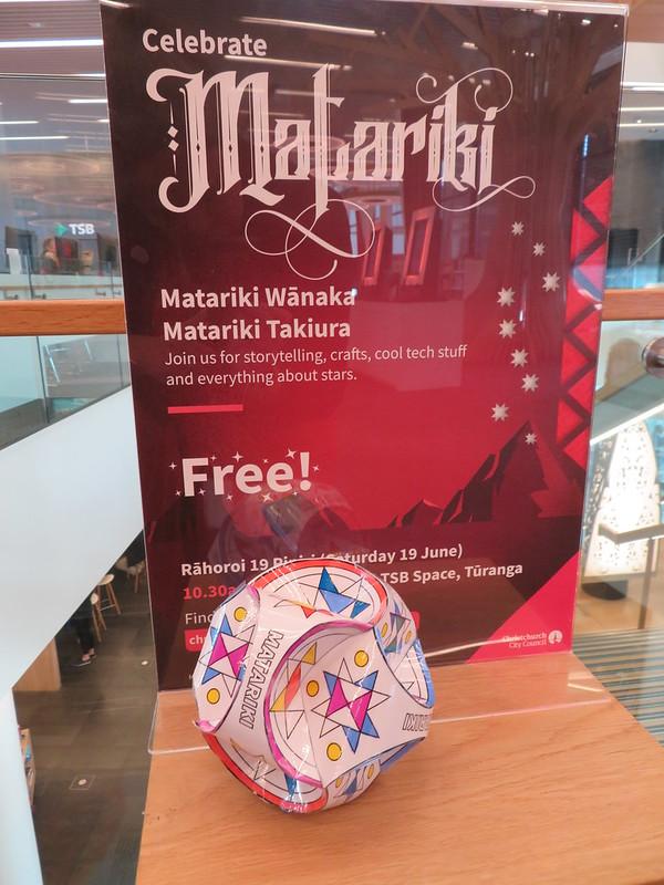 Matariki paper globe, Tūranga