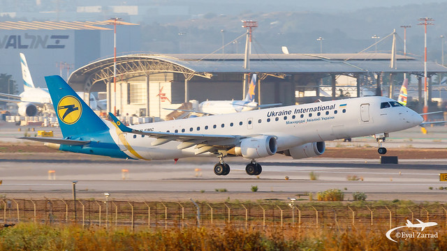 TLV - Ukraine International Embraer 190 UR-EMC