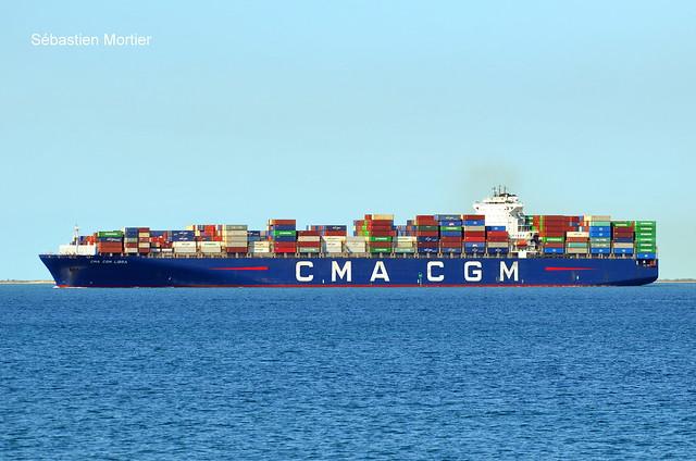 CMA CGM LIBRA CONTAINER SHIP 364M 2009 9399193 MALTA 08 05 21 PORT DE BOUC