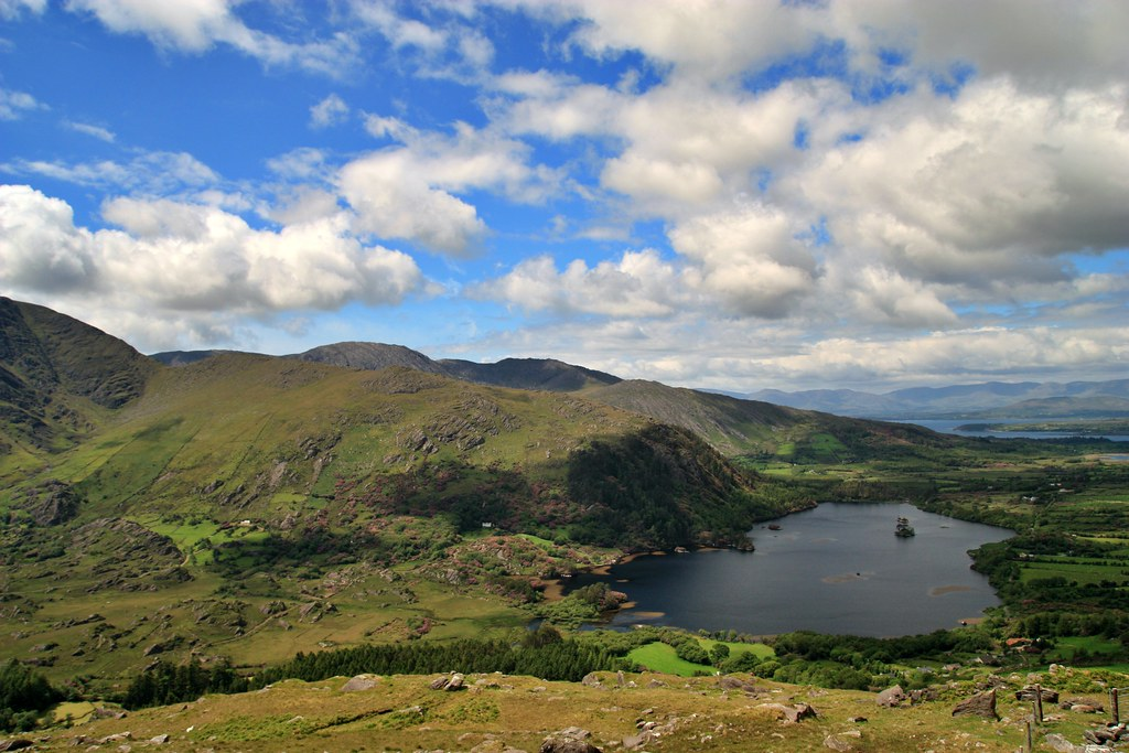 Healy Pass over looking Glenmore Lake, Co. Kerry, Ireland