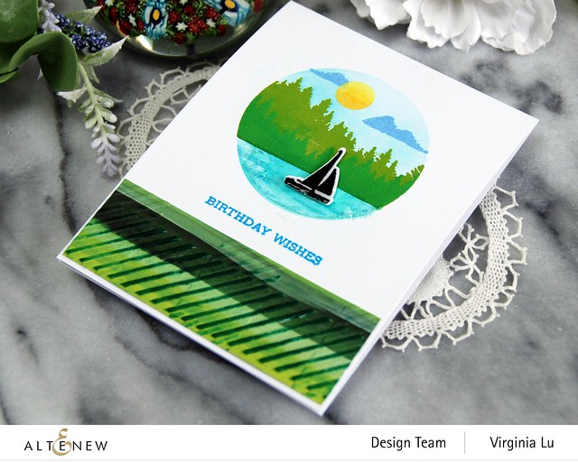 06132021-Let's Go Stamp & Die & Coloring Stencil Bundle-Buffalo Plaid 3D Embossing Folder-Enjoy The Ride Paper Pad-002