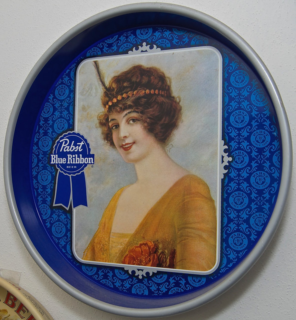 Tray, Brewery - Pabst Brewing, Pabst Blue Ribbon Beer, Round, Serving, Steel - 03