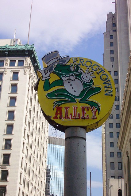 Toledo Ohio - Frog Town  Alley - Neon Sign